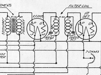 All American Filter Schematic CRCB Fall 1924 Schematic